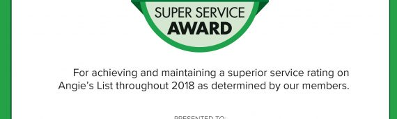 Angieslist 2018 Super Service Award