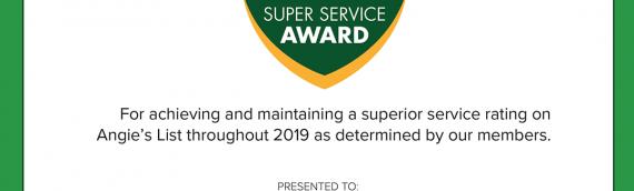 2020 Super Service Award
